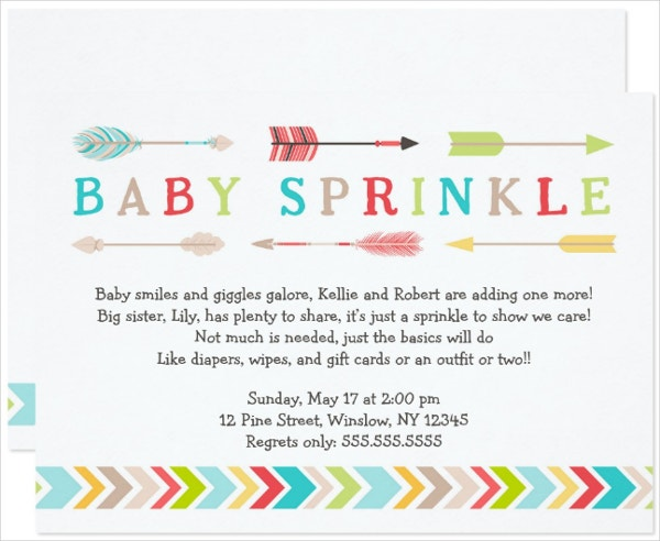 gender baby shower tribal invitation