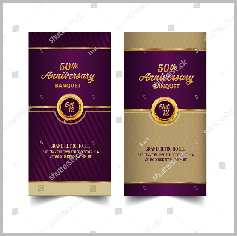 Golden Anniversary Banquet Invitation Template