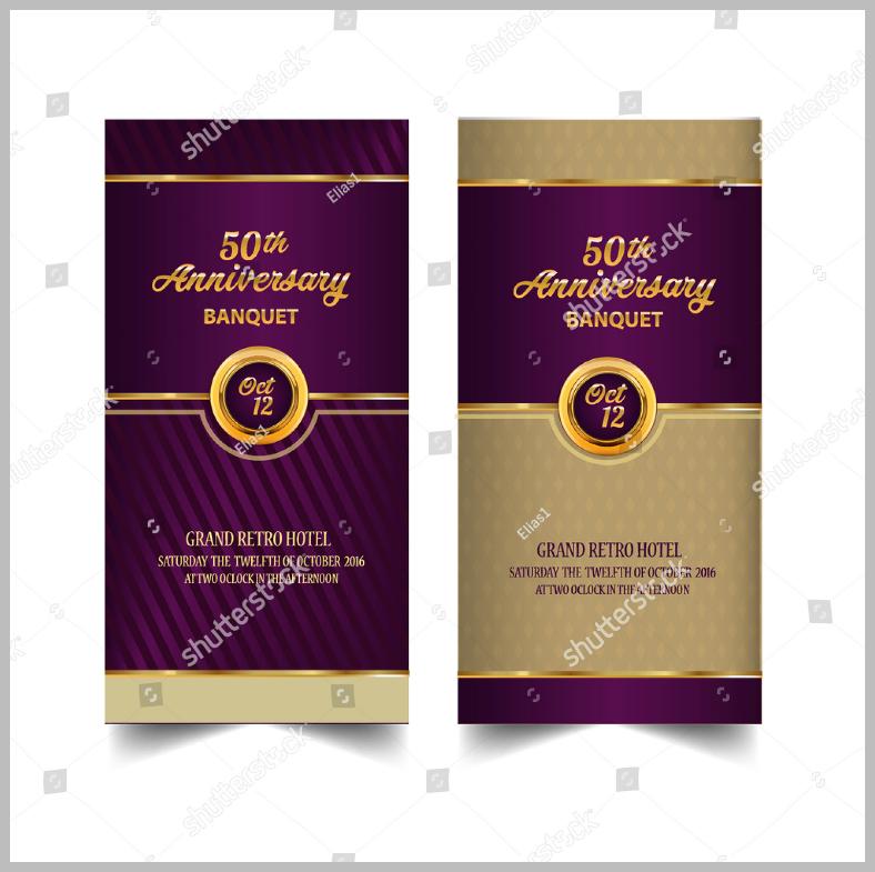 Golden Anniversary Banquet Invitation Template
