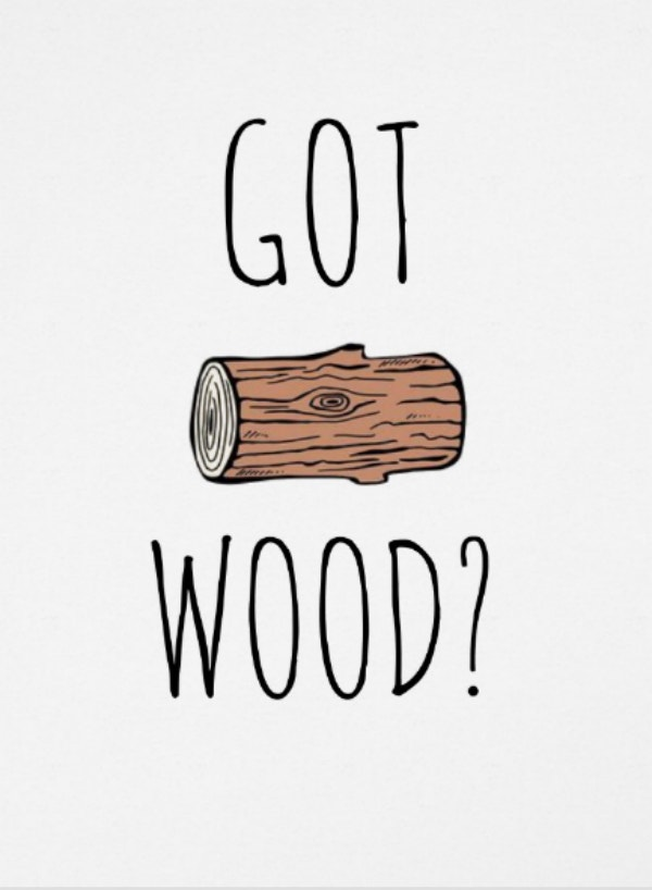 got wood funny boyfriend card