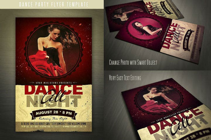 grunge-music-dance-party-invitation-template