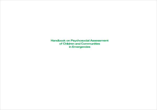 Handbook on Psychosocial Assessment