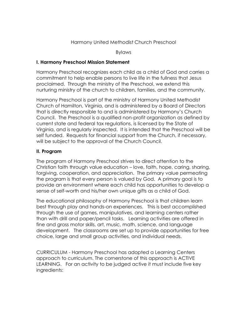 harmony-preschool-bylaws-1
