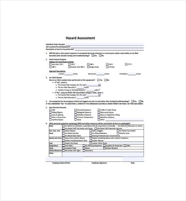 hazard assessment form in pdf1