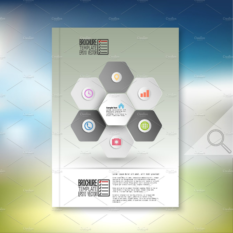 Hexagon Information Graphics Flyer Template
