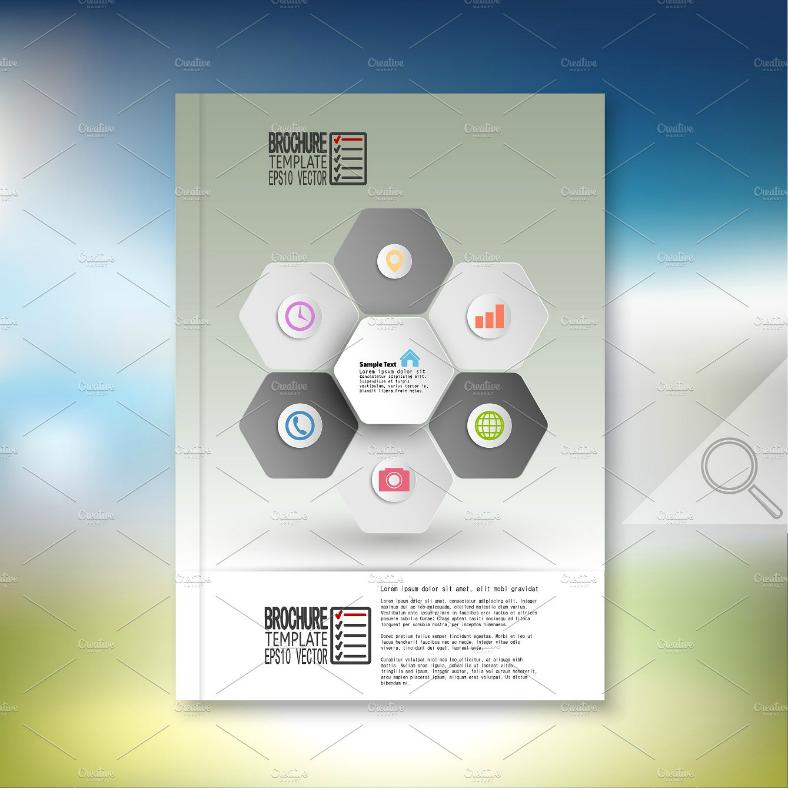 Hexagon Information Graphics Flyer Template
