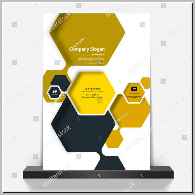 Honeycomb Style Hexagon Flyer Template