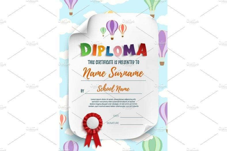hot-air-balloon-diploma-template