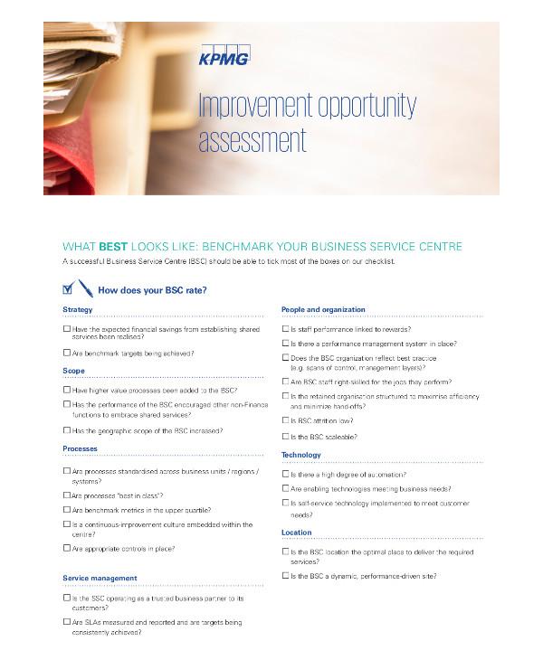 improvement opportunity assessment