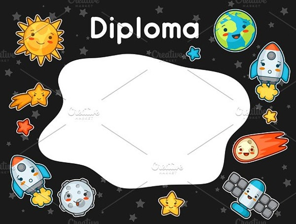 kawaii space diploma1