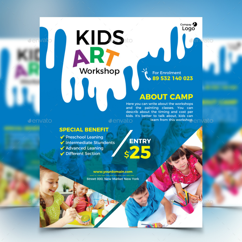 14 workshop flyer designs templates psd ai free premium kids art workshop flyer template saigontimesfo