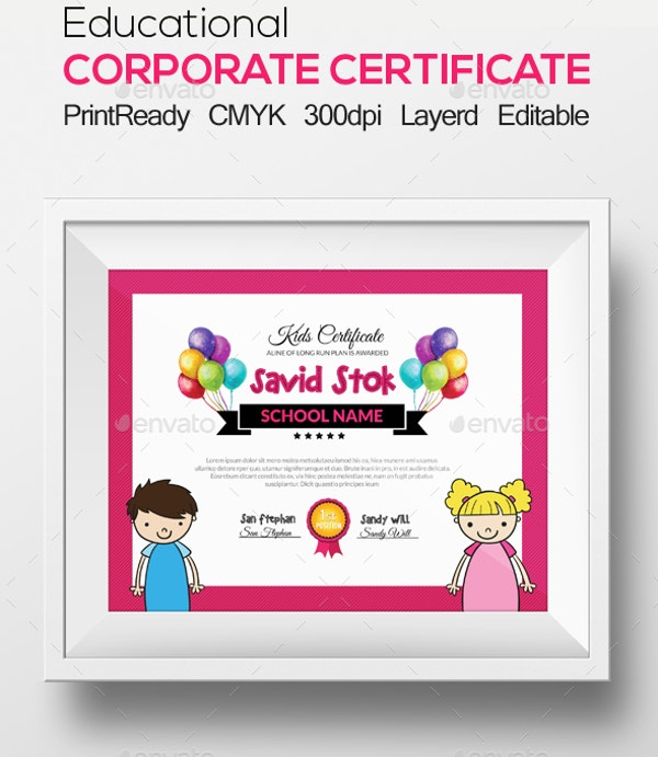 kids certificate and diploma template1