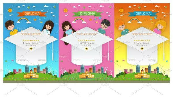 Kids Diploma Certificate Set