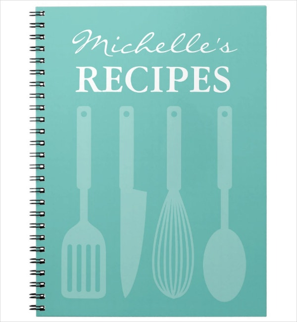 kitchen utensils notebook cover template