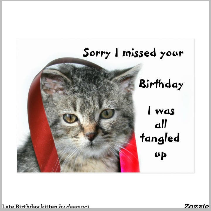 kitten-late-birthday-postcard-template