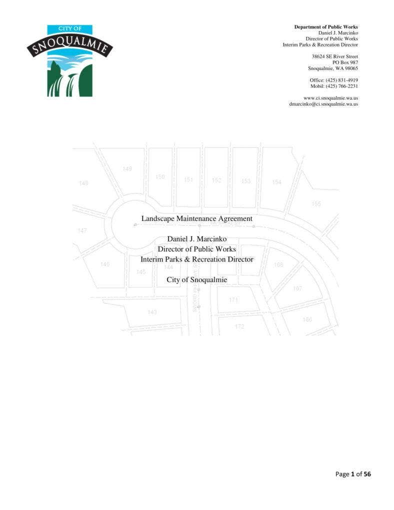 Landscape Maintenance Agreement Template