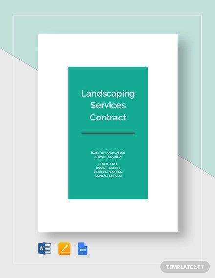 landscaping services contract template