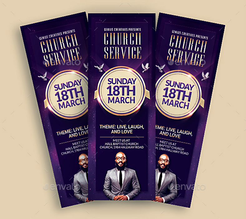 Live Laugh Love Church Service Ticket Template