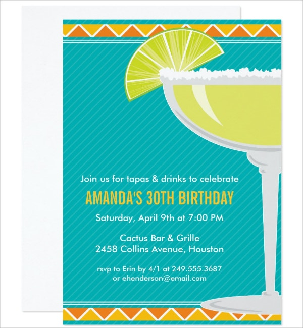 Margarita Party Happy Hour Invitation