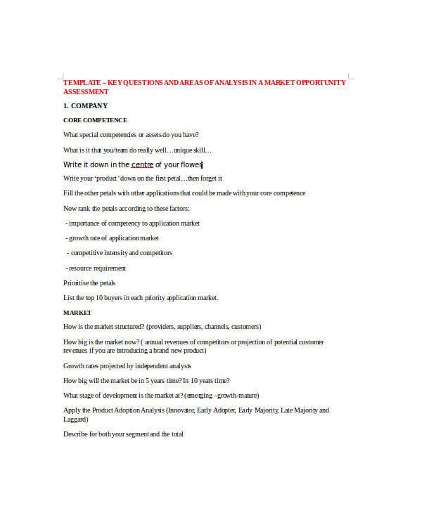 market opportunity assessment