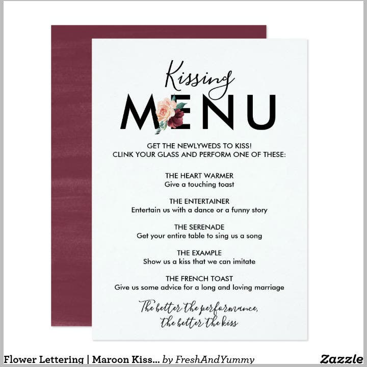 maroon-flower-lettering-kissing-menu-card-template