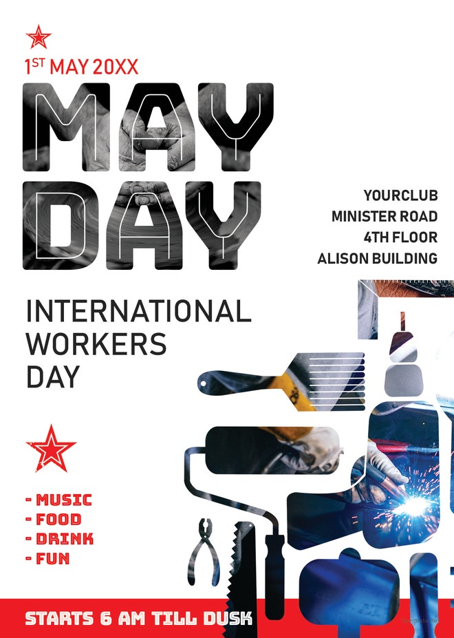 May Day Flyer Template