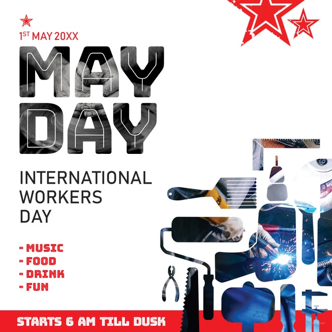May Day Instagram Post