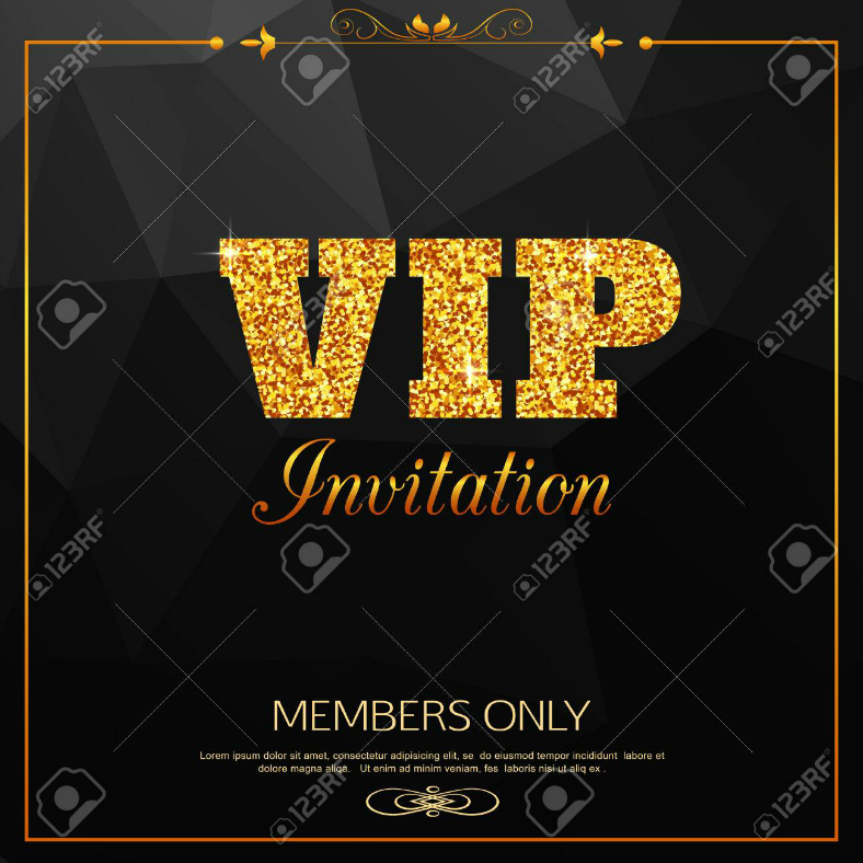 Members Only VIP Invitation Template