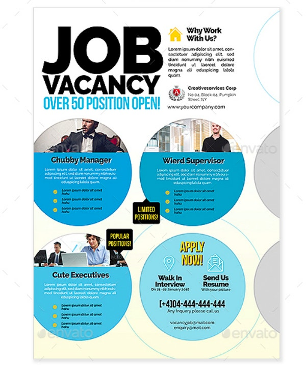 Minimal Job Vacancy Flyer