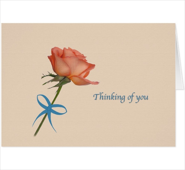 Minimal Thinking Of You Card Template