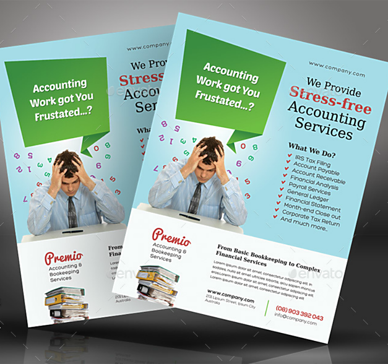 Minimalist Accounting Services Flyer Template