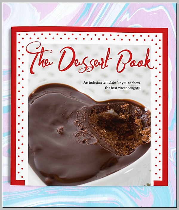 moist choco cake book cover template