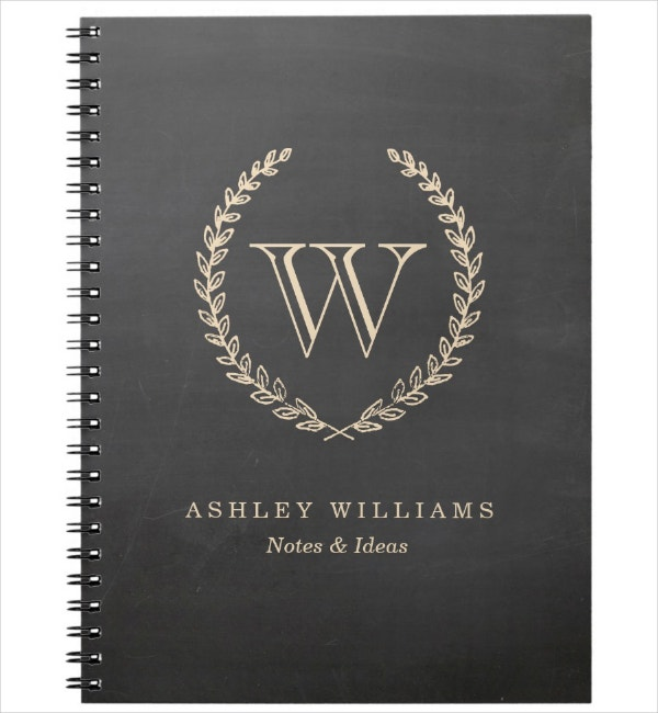 Monogram Notebook Cover Template