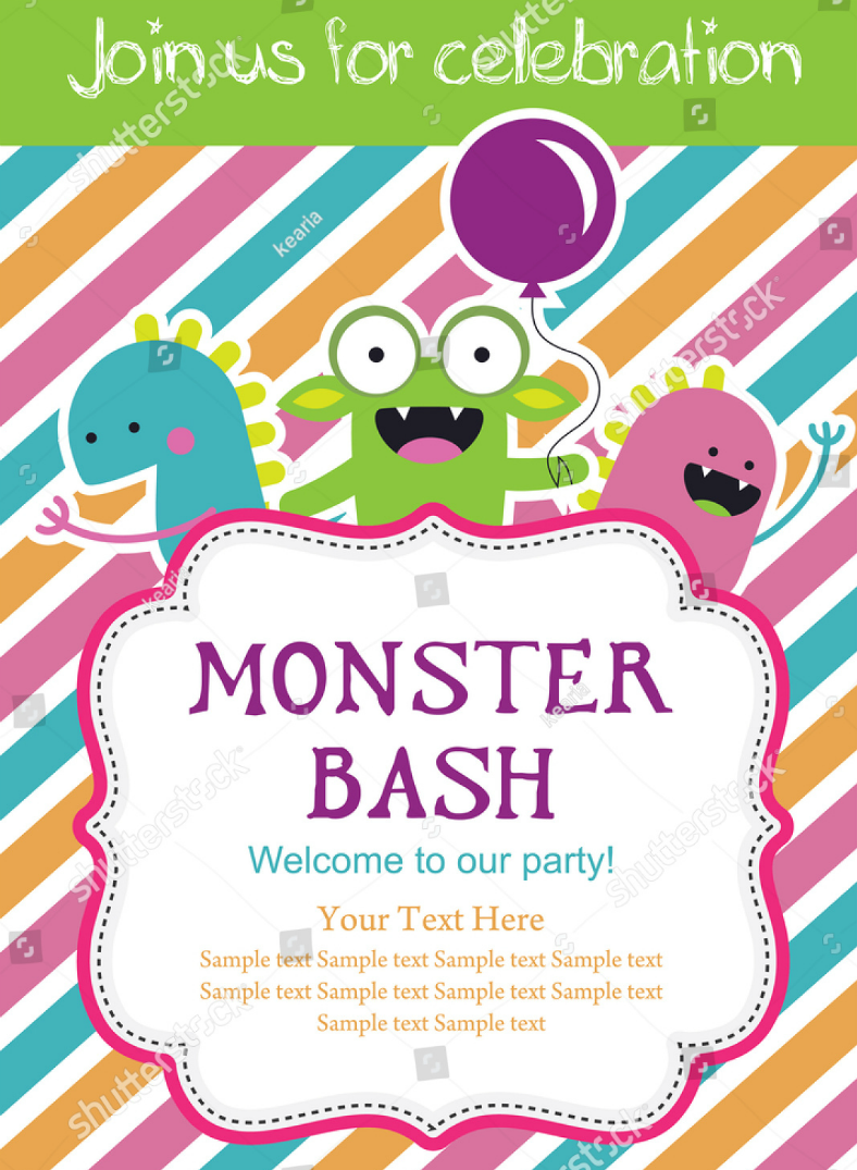 monster bash party invitation template 788x1075