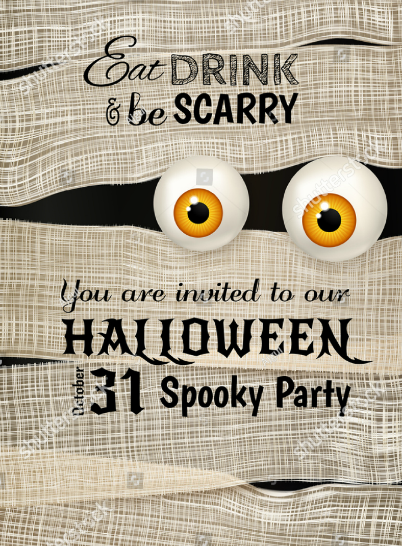 monster eyes halloween invitation template 788x1070