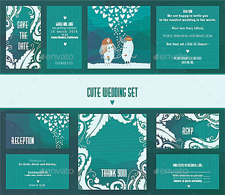 monster theme bundled wedding templates 788x684