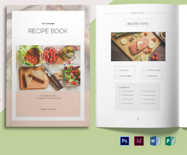 mouthwatering recipes food book cover template