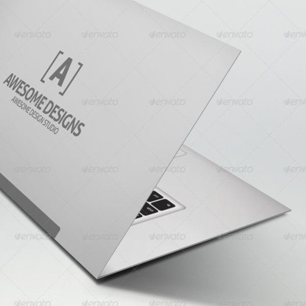 mybook pro folded business card template