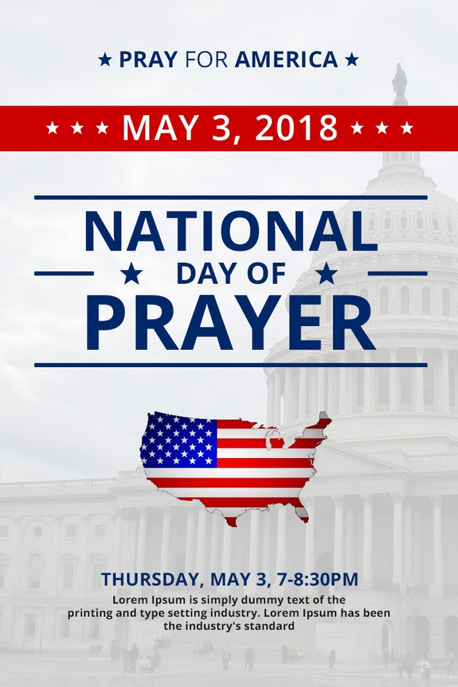 National Day of Prayer Pinterest Pin Template