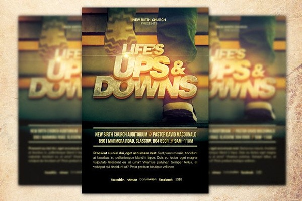 New Church Flyer Template