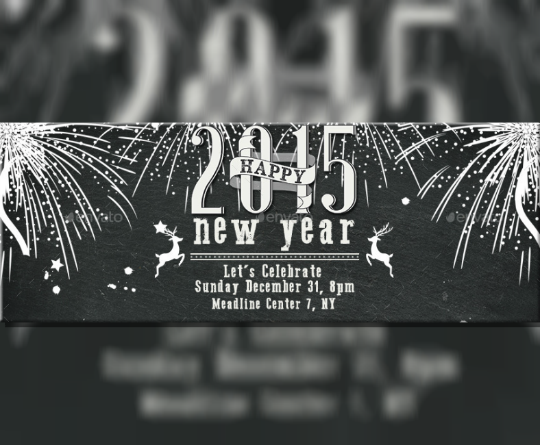 New Year Party Announcement Facebook Banner
