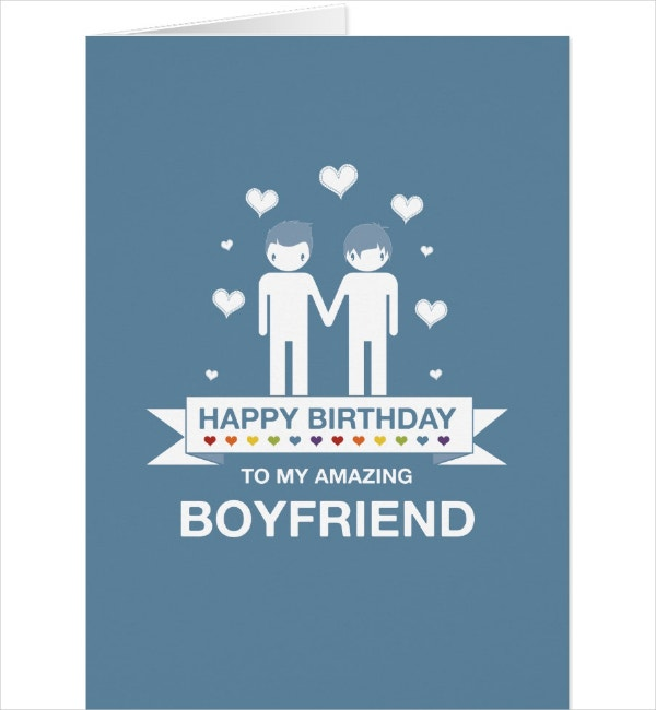 Non-Binary Boyfriend Birthday Card Template