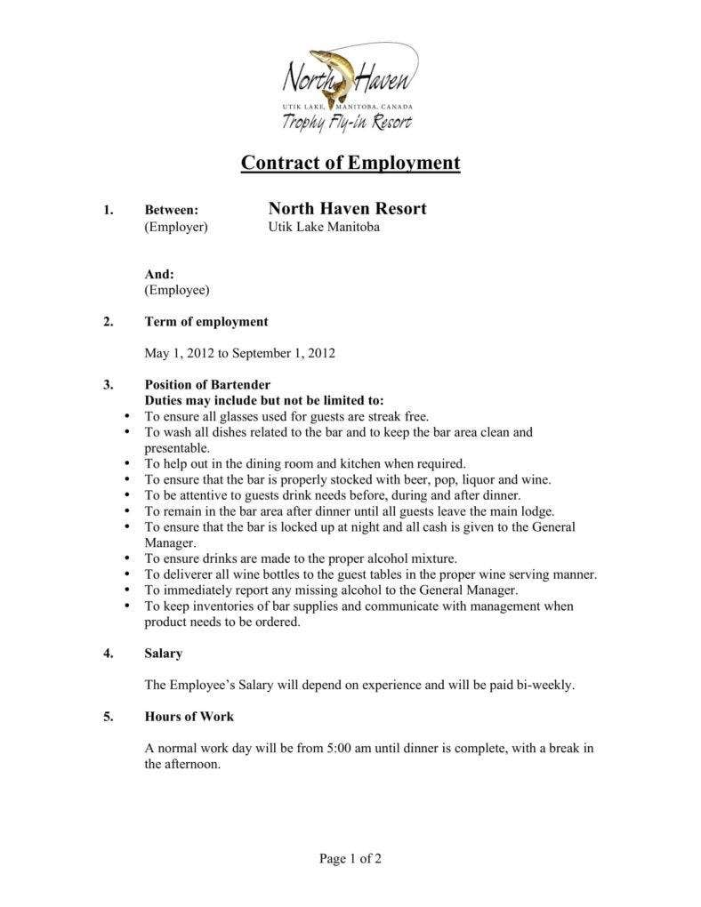 north-haven-contract-of-employment-for-bartender-1