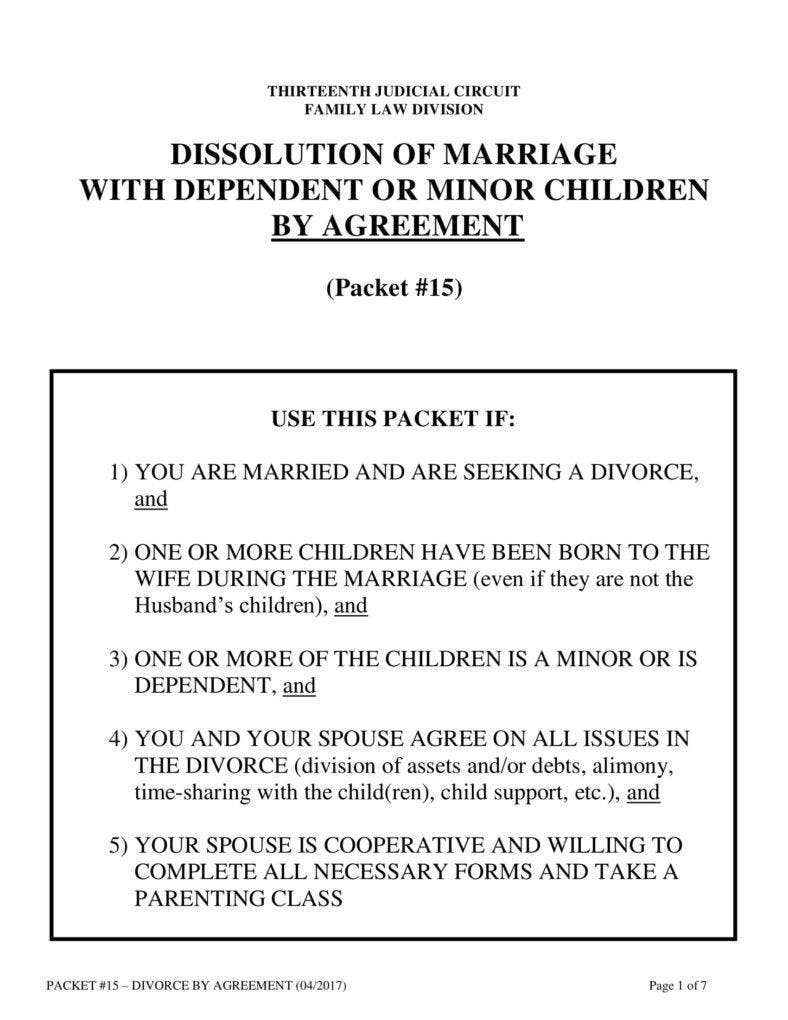 Obtaining Divorce Agreement
