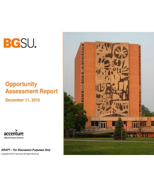 opportunity assessment report