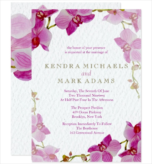 Orchid Paradise Invitation Template