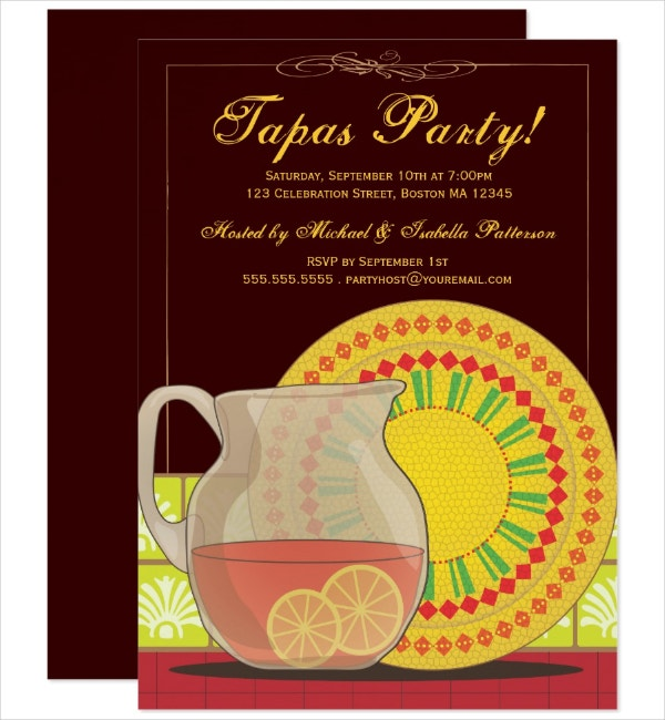 Party Happy Hour Invitation Template