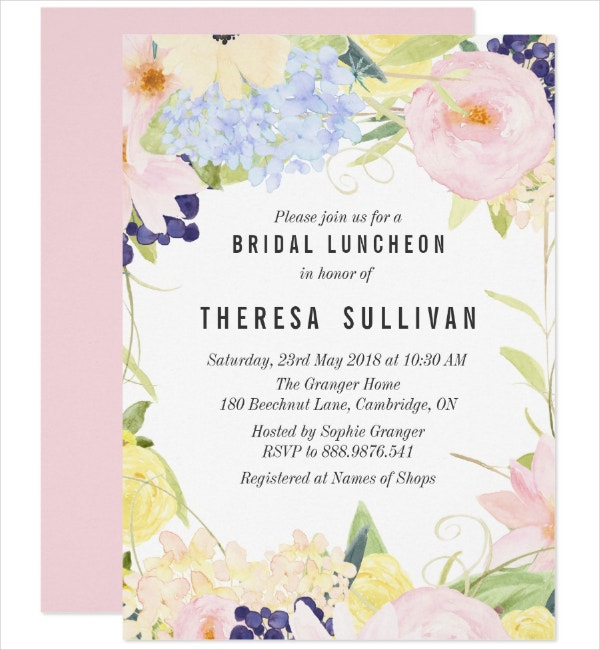Pastel Luncheon Invitation Template