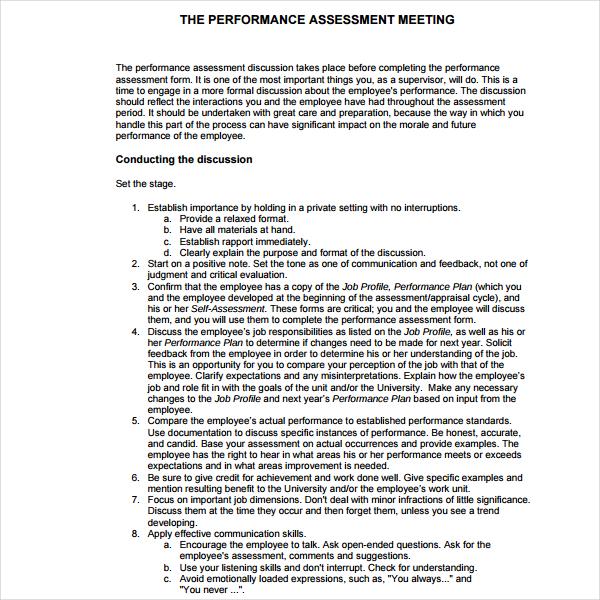 Performance Management Assessment