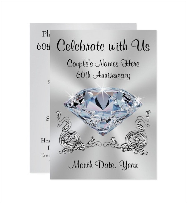 Personalized 60th Anniversary Invitations